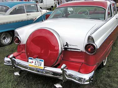 1955 Ford Skyliner Crown Victoria Rear View